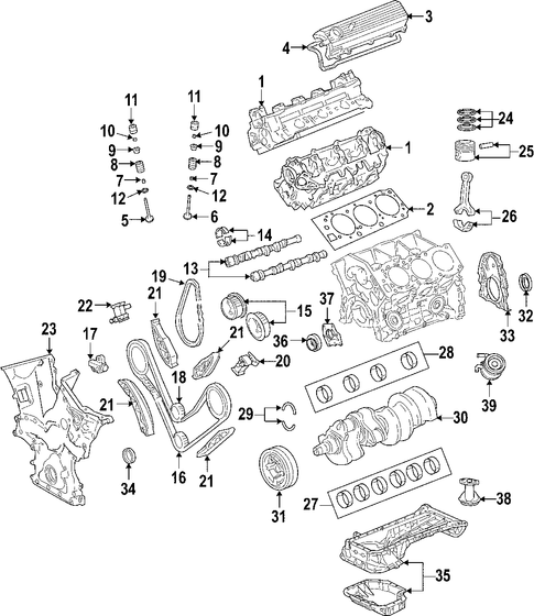 Timing Gear Set - Toyota (13523-AD010)