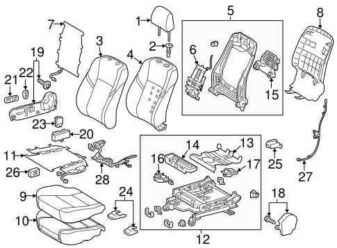 BODY/PASSENGER SEAT COMPONENTS for 2014 Toyota Avalon #1