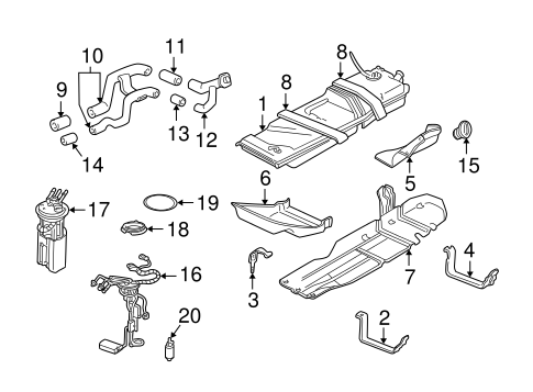 FUEL    SYSTEM COMPONENTS for    2000    Chevrolet    Blazer
