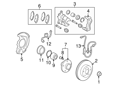 BRAKES/BRAKE COMPONENTS for 2010 Toyota Venza #2