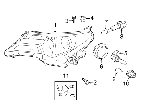 ELECTRICAL/HEADLAMP COMPONENTS for 2013 Toyota RAV4 #2