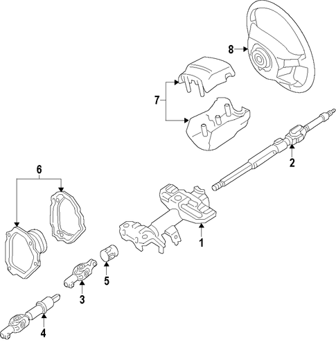 STEERING/STEERING COLUMN for 1997 Toyota Camry #1