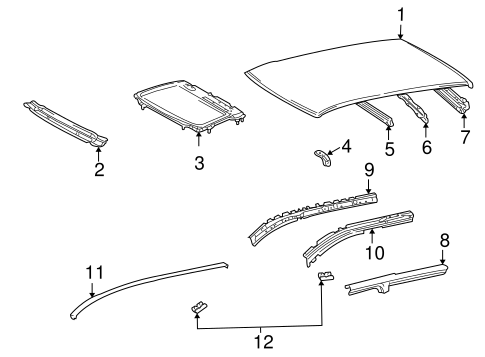 Sunroof Reinforced - Toyota (63142-01010)