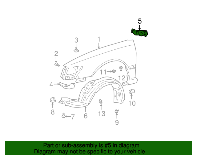 Rear Seal - Toyota (53867-06010)
