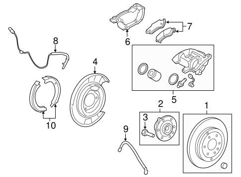 2008 Grand Prix Rear Suspension Parts