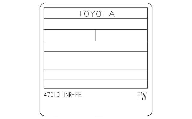 Emission Label - Toyota (11298-47040)