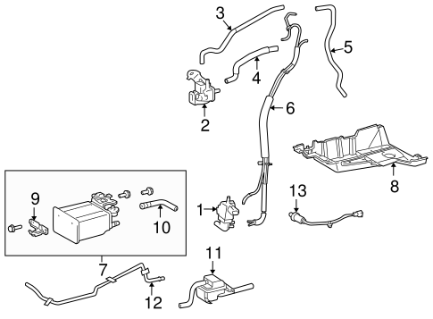 EMISSION SYSTEM/EMISSION COMPONENTS for 2008 Toyota Sienna #1