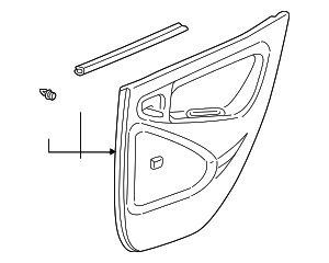 Door Trim Panel - Toyota (67630-52160-B2)
