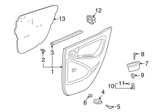 Mount Bracket - Toyota (67625-52010)
