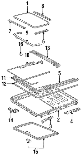 Guide Rail - Toyota (63207-33020)