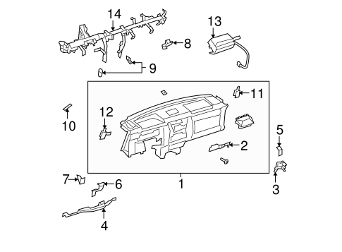 Instrument Panel Reinforcement - Toyota (55306-35120)