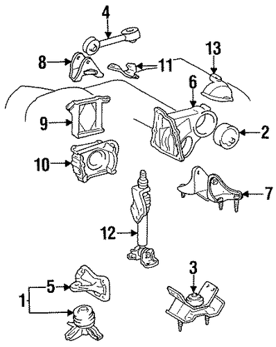 Mount Bracket - Toyota (12311-20030)