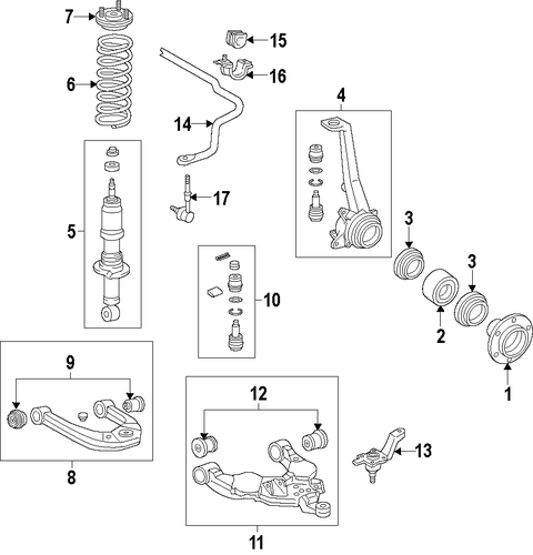 FRONT SUSPENSION/SUSPENSION COMPONENTS for 2014 Toyota Tundra #1