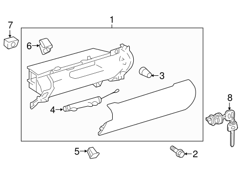 Glove Box Assembly - Toyota (55303-06391-A1)