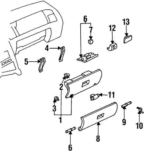 Glove Box Bracket - Toyota (55384-14020)