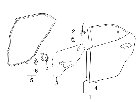 BODY/DOOR & COMPONENTS for 2014 Toyota Corolla #2