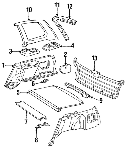 Side Trim - Toyota (64730-13050-P0)