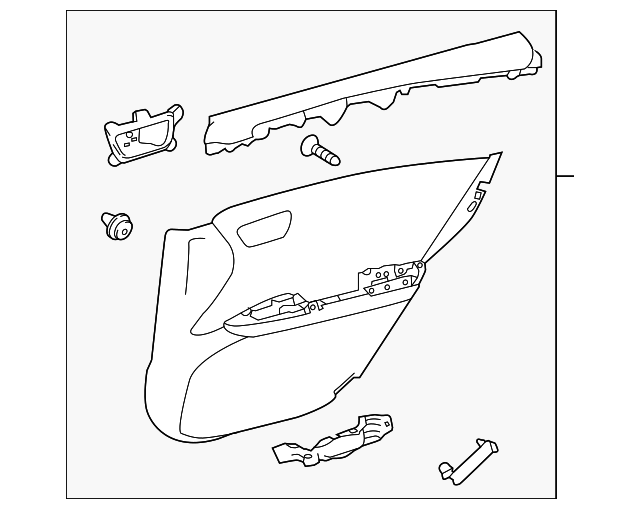 Door Trim Panel - Toyota (67630-07130-C7)