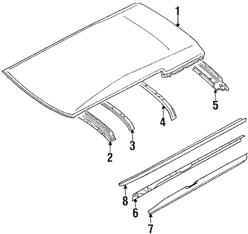Roof Rail - Toyota (63141-12150)