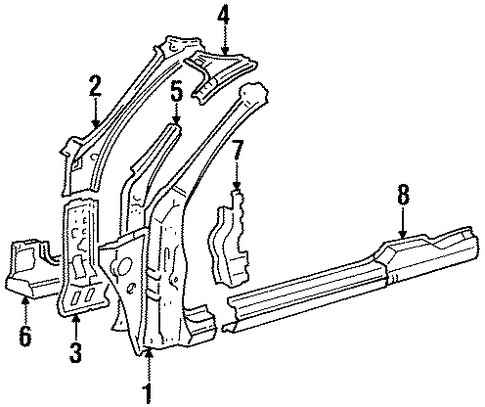 BODY/HINGE PILLAR for 1998 Toyota Celica #1