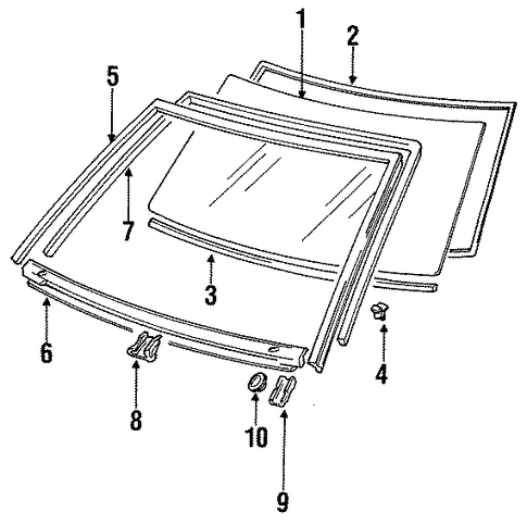 Windshield - Toyota (56111-95D01)
