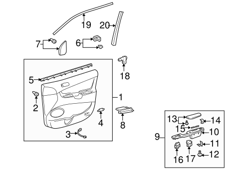 Door Trim Panel - Toyota (67620-AE050-E0)