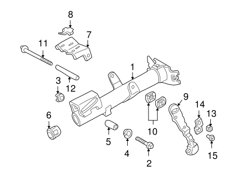 STEERING/HOUSING & COMPONENTS for 2002 Toyota Echo #1