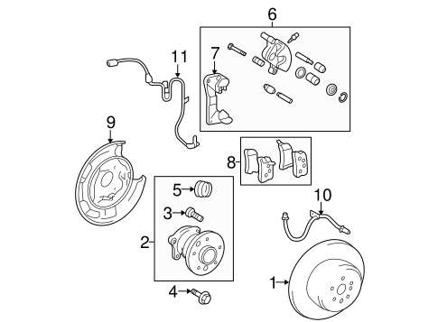 BRAKES/BRAKE COMPONENTS for 2009 Toyota Highlander #2