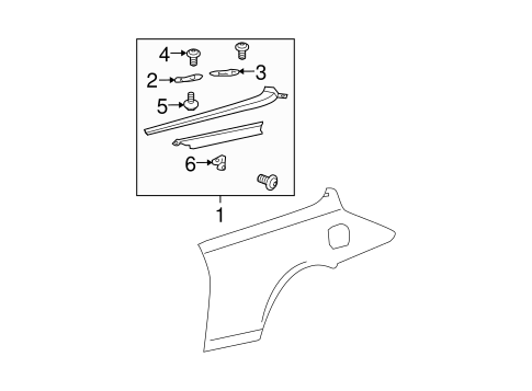 Rear Bracket - Toyota (67155-06010)
