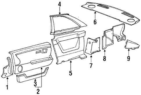 1985 Honda PRELUDE DX PACKAGE TRAY - (74820SB0020ZC)