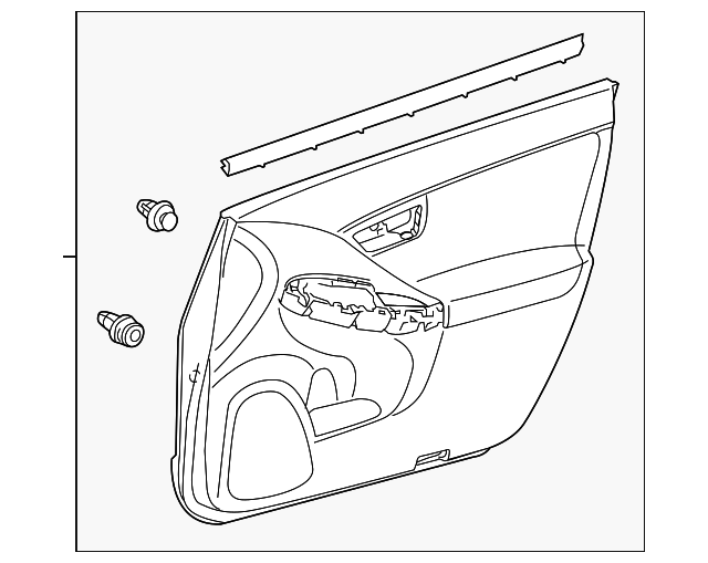 Door Trim Panel - Toyota (67610-47400-G0)