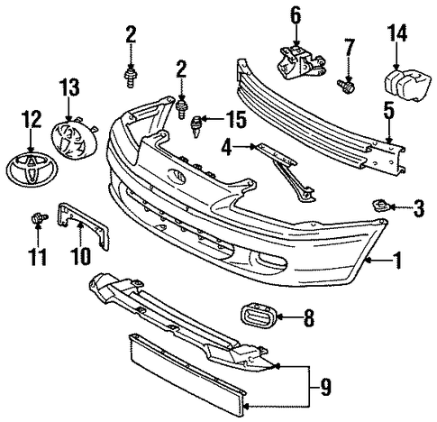 BODY/BUMPER & COMPONENTS - FRONT for 1996 Toyota Paseo #1