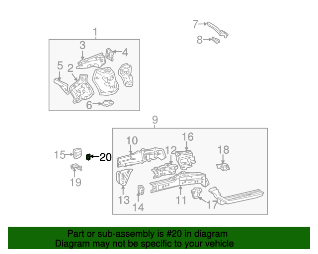 Mount Bracket - Toyota (53261-42010)