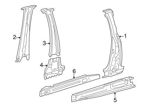 BODY/CENTER PILLAR & ROCKER for 1999 Toyota Sienna #2
