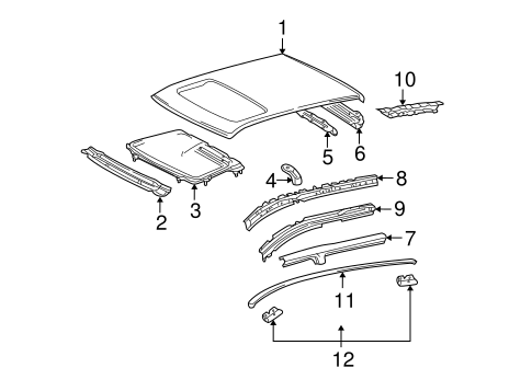 Sunroof Reinforced - Toyota (63142-12120)