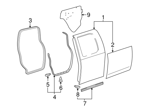 Door Shell - Toyota (67003-0C100)
