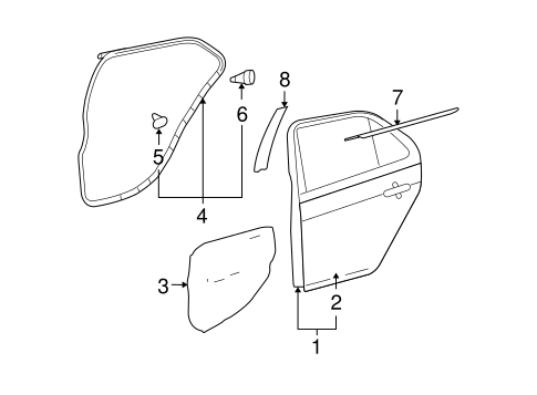 Door Shell - Toyota (67004-52380)