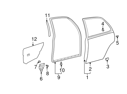 Outer Panel - Toyota (67113-AA020)