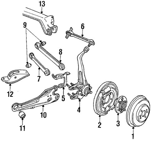 1987 Honda ACCORD HATCHBACK LXI Plate, L Rear Brake Backing - (43120SE0013)