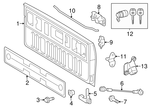 Lock Assembly - Toyota (65780-0C041)