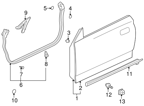 Door Shell - Toyota (67001-2B210)