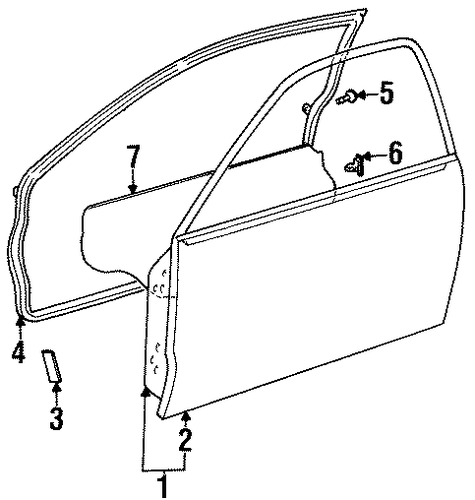 Door Shell - Toyota (67001-16650)