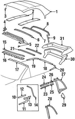 Windshield Header - Toyota (63102-0W010)