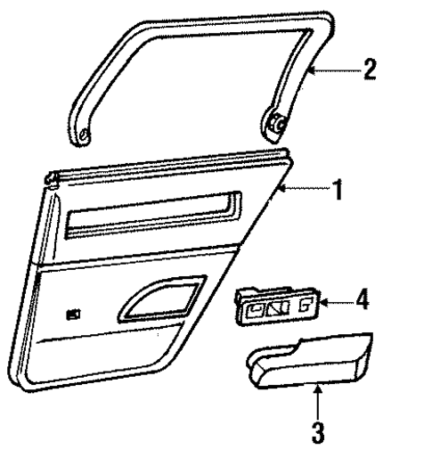 Roadmaster Wagon Replacement Parts : Oem interior trim rear door for buick roadmaster