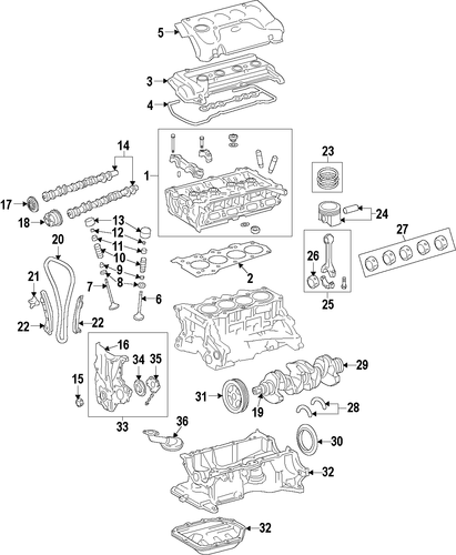 Crankshaft - Toyota (13401-0V041)