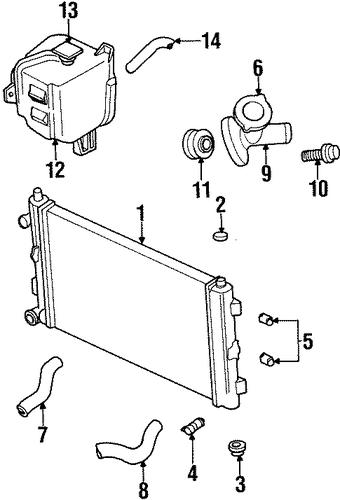 radiator  u0026 components for 1998 chrysler sebring