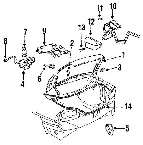 oem lid  u0026 components for 1997 buick skylark
