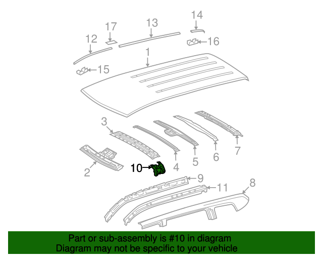 Inner Center Pillar Extension - Toyota (61385-0E020)