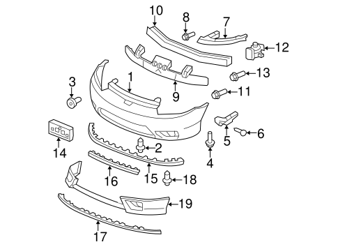 OEM Honda 93903-25320 - Side Support Screw