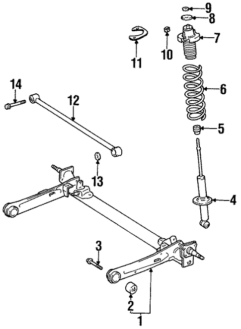 REAR SUSPENSION/REAR SUSPENSION for 1997 Toyota Paseo #1